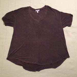 Abound Womens Distressed Casual Shirt Plum Purple